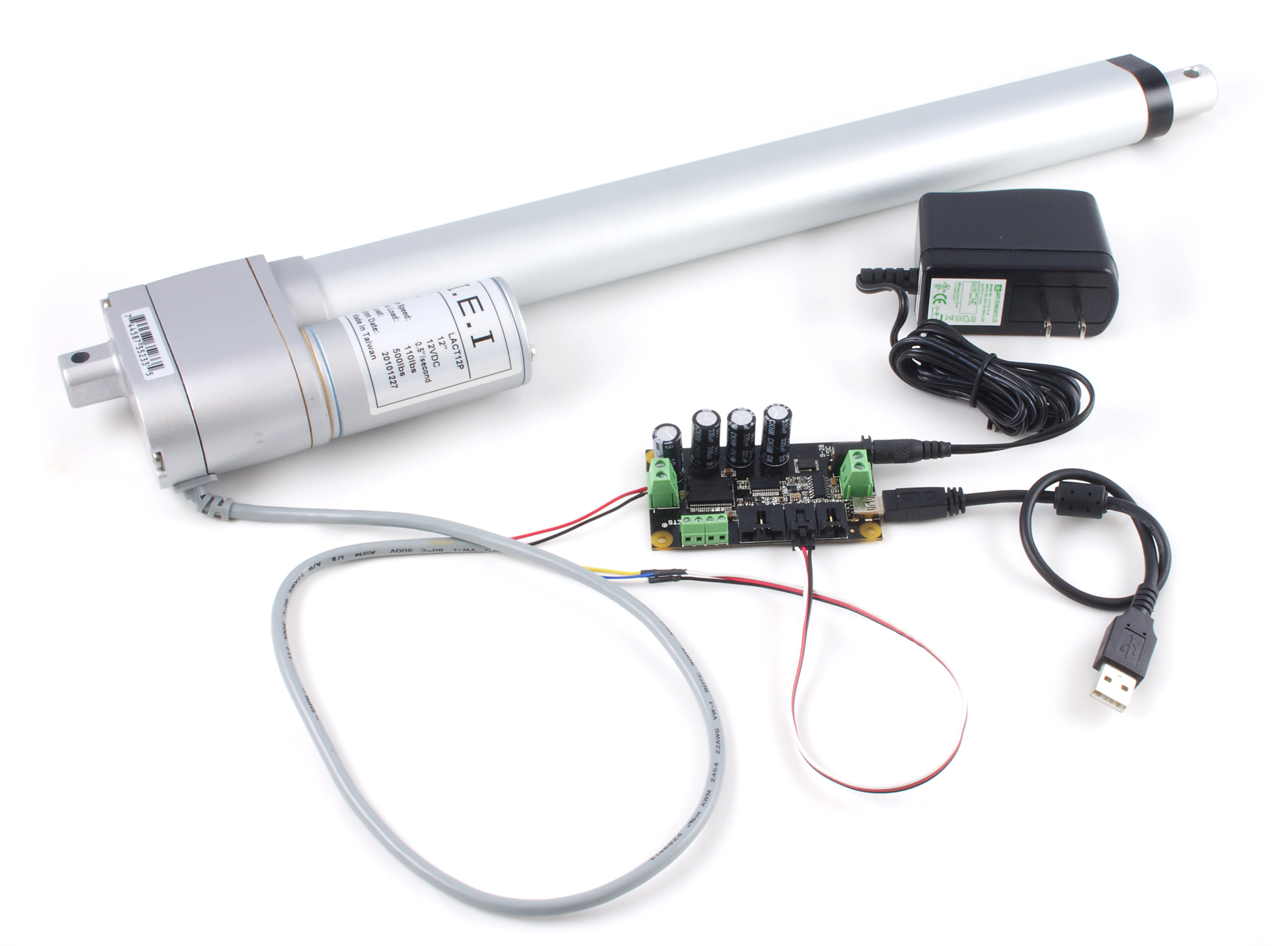 Phidgets Projects Linear Actuator Pid Control Wiring A Is Motor That Has Been Geared To Extend And Contract An Arm Rather Than Rotate Shaft Many Applications Use Actuators