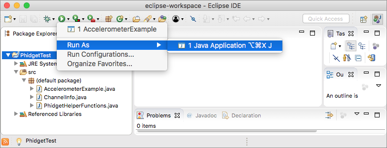 Language - Java macOS Eclipse - Phidgets Support