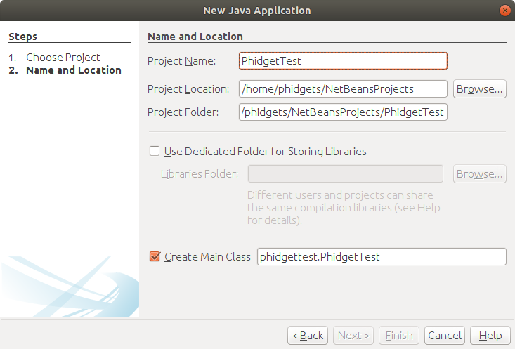 Java netbeans linux nameproject.PNG
