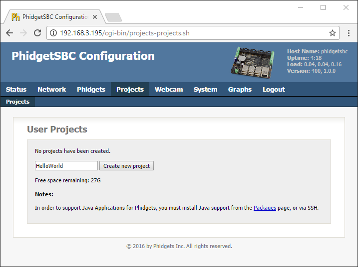 Language - Python SBC Linux - Phidgets Support