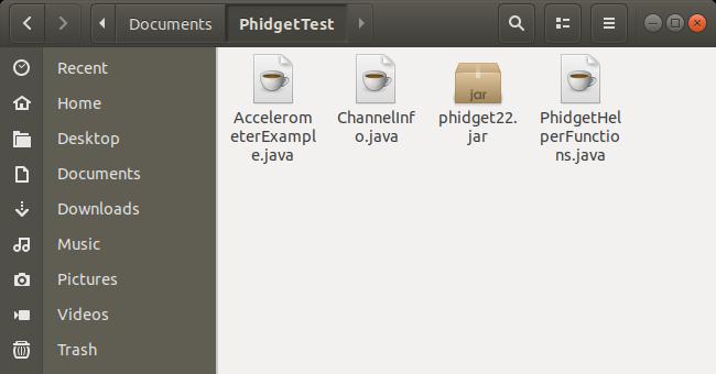 Language - Java Linux Javac - Phidgets Support