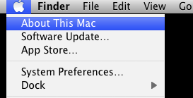OS X About This Mac