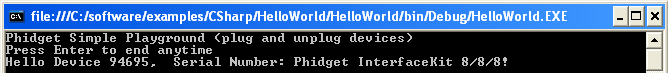 HelloWorld Output