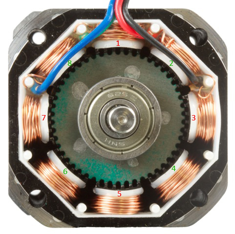 Stepper motor and controller primer phidgets legacy support for Dc stepper motor working