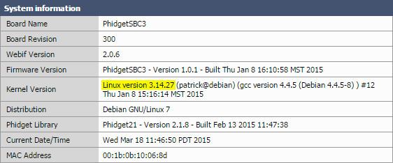 OS - Phidget SBC - Phidgets Legacy Support