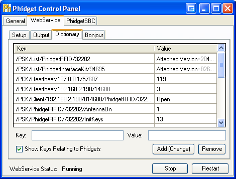 Windows Control WebService Dictionary