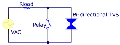 Using a Bi-directional TVS Diode.