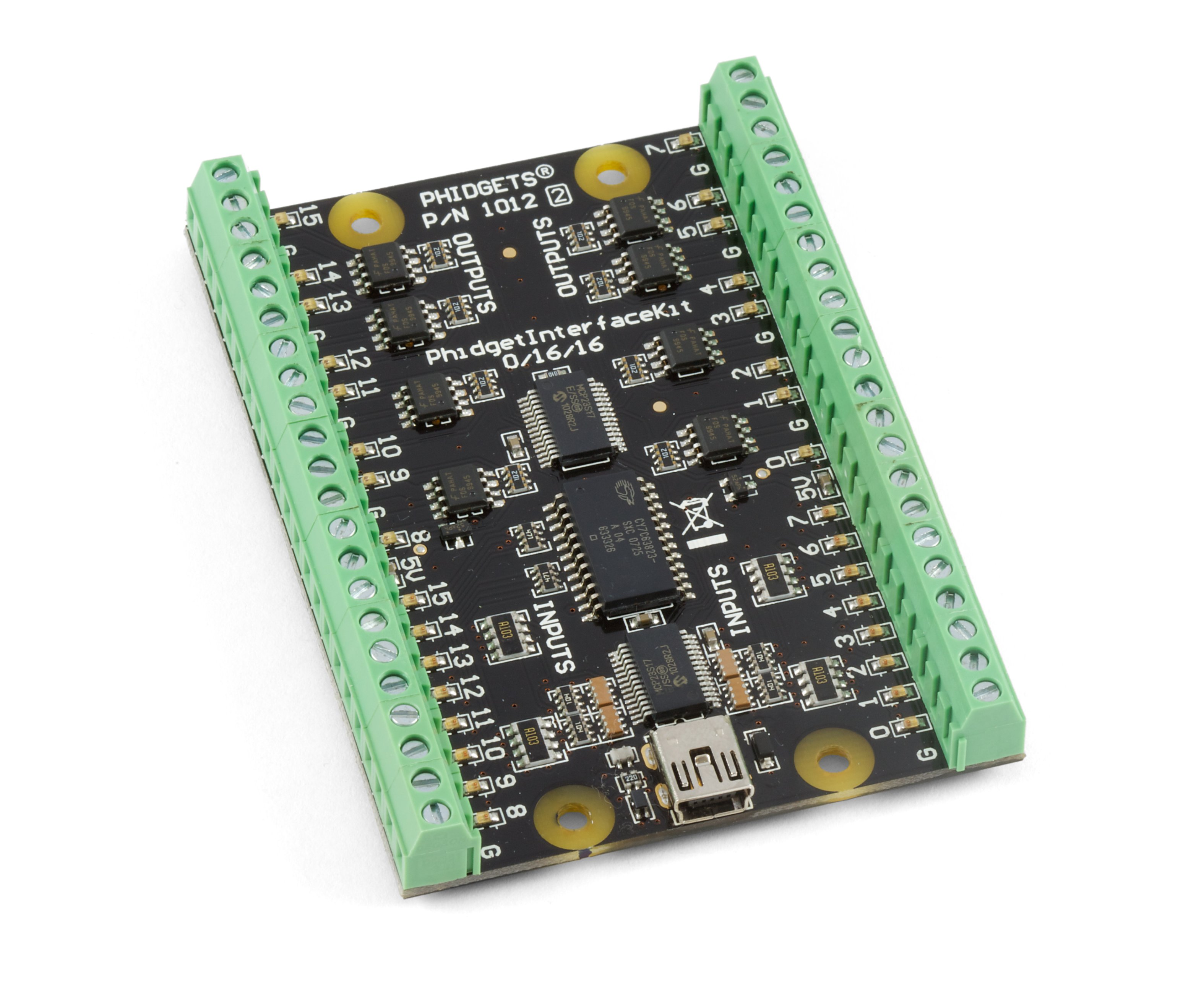 Phidgetinterfacekit 0 16 1012 2b At Phidgets Next The Four Relay Outputs From Remote Control Inbuilt Relays Channel Digital Input Output Phidget