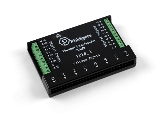 8 channel digital input/output, analog input Phidget.