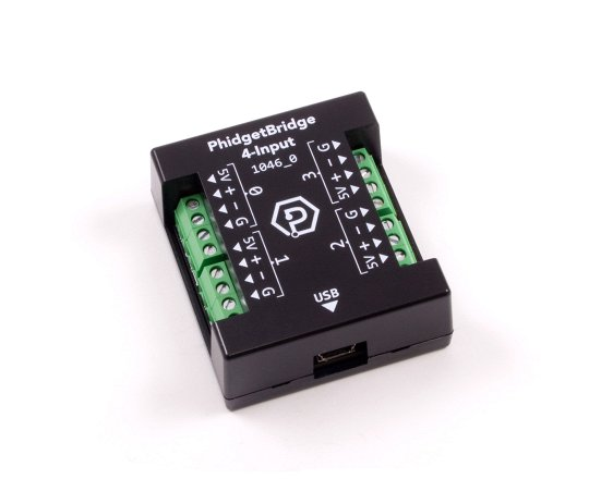 4 channel input for load cells and other Wheatstone bridge devices.