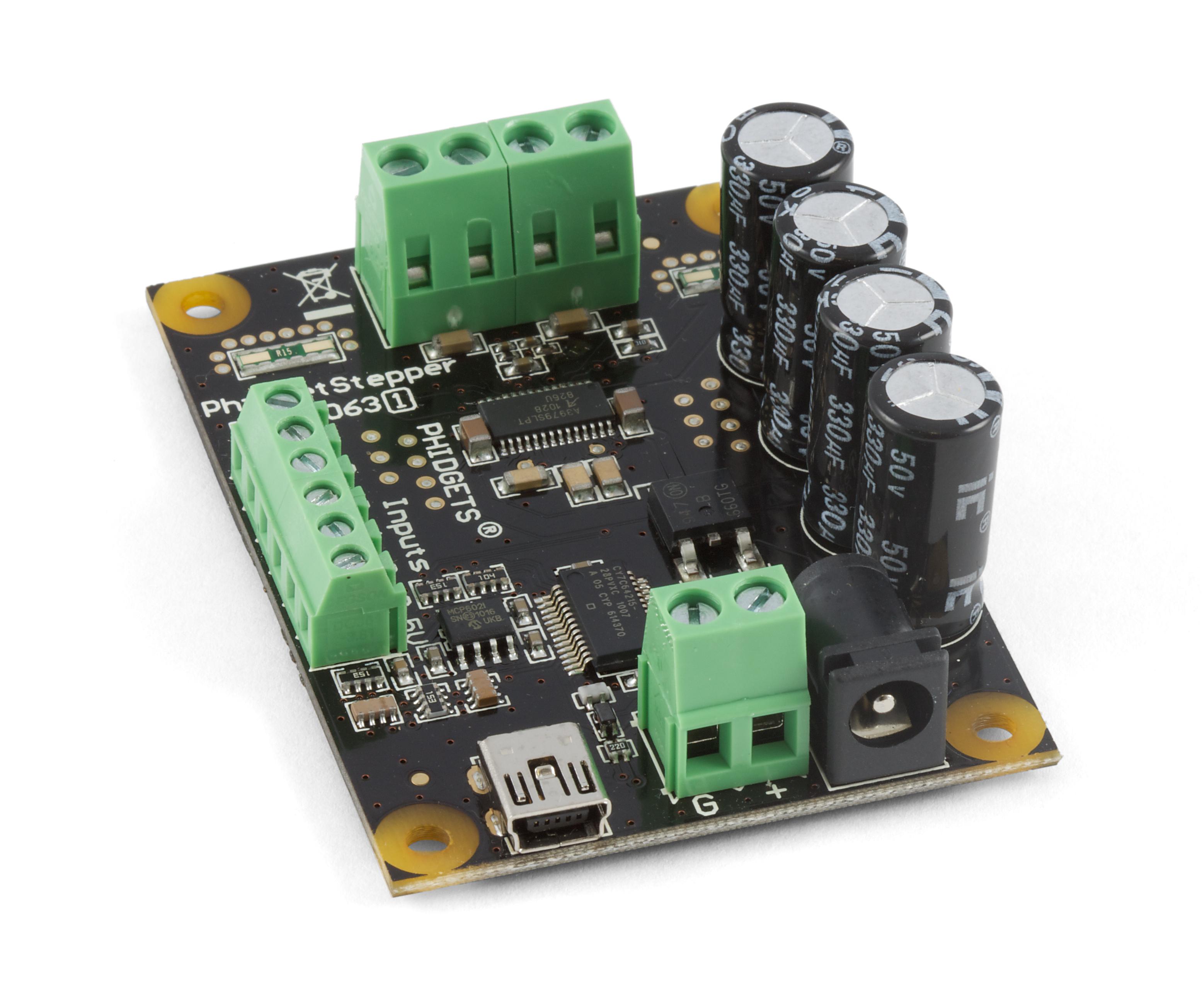 Phidgetstepper Bipolar 1 Motor 1063 At Phidgets Stepper Control