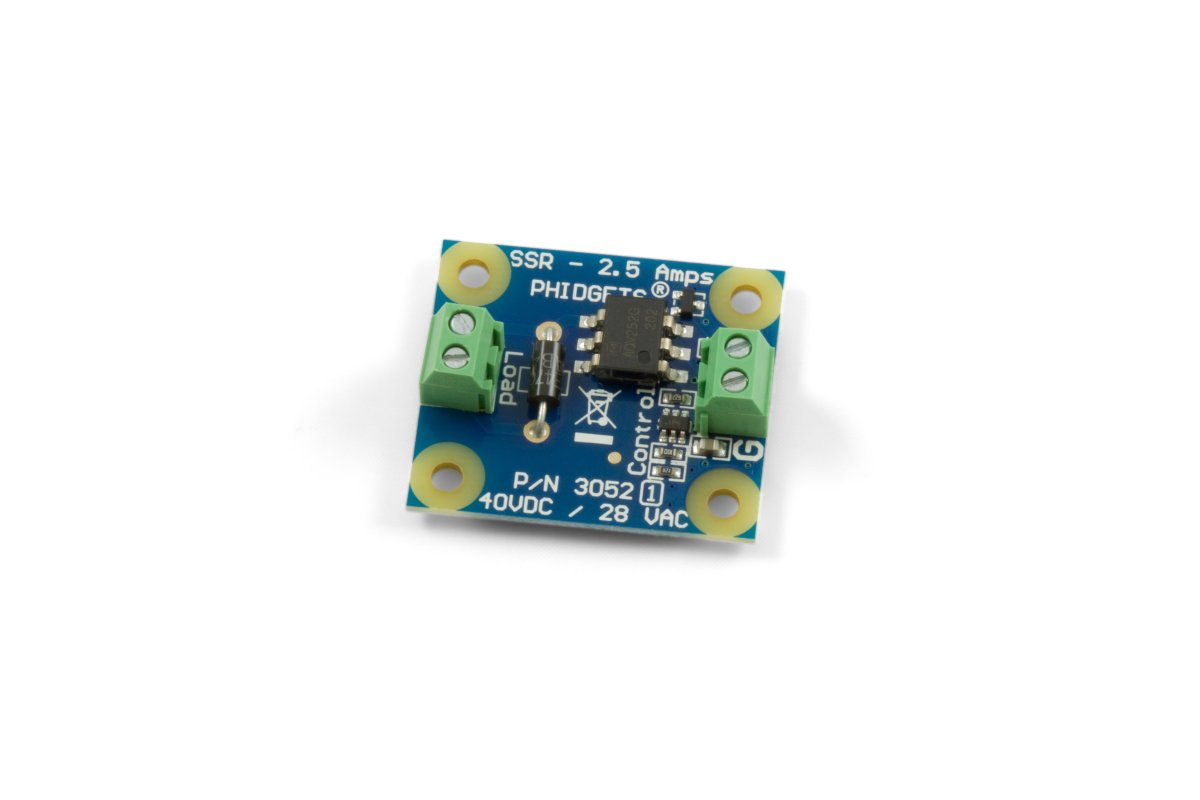 SSR Relay Board 25A 30521 at Phidgets