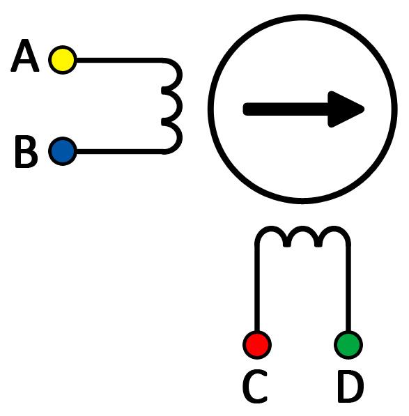 phidgets inc 3304 0 nema 17 bipolar 32mm stepper dc compound motor connection diagram