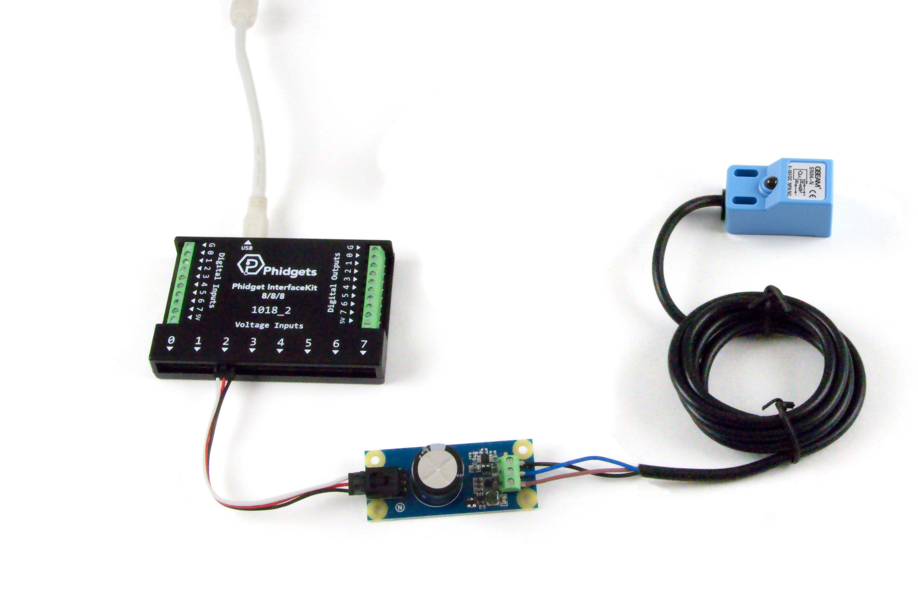 Sn04 N Inductive Proximity Sensor 5mm 3528 0 At Phidgets Sensors