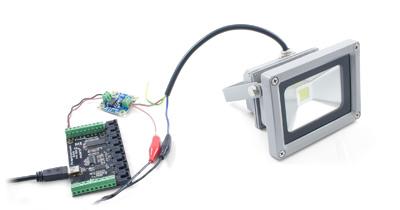 led flood light 12v dc 10w 3619 0 at phidgets rh phidgets com flood light wiring cable flood light wiring cable