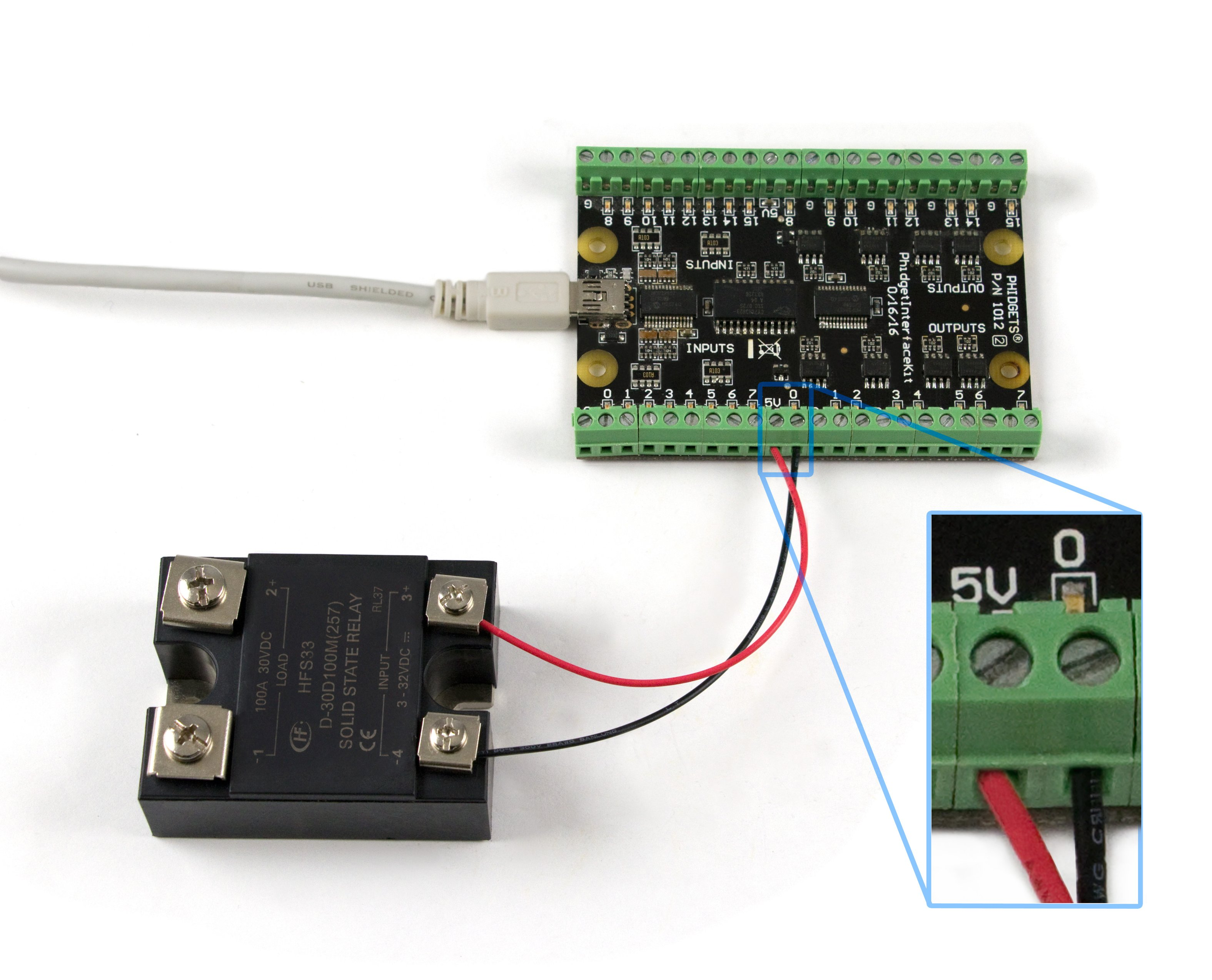 DC Solid State Relay - 30V 100A - 3952_0 at Phidgets