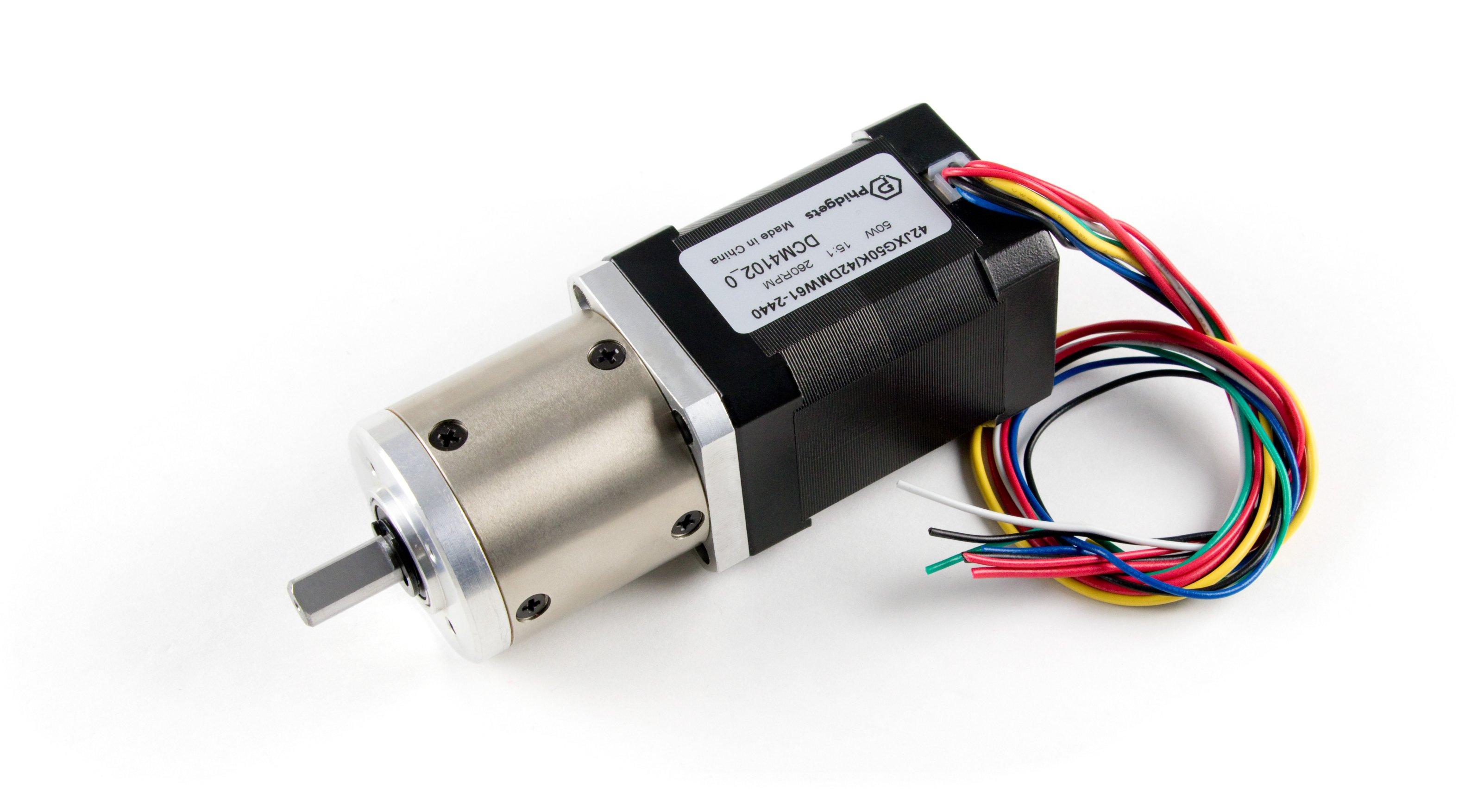 42DMW61 NEMA17 Brushless Motor with 15:1 Gearbox - DCM4102_0