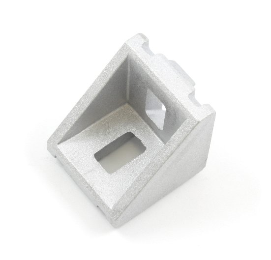 Cast aluminum right angle bracket for 30x30mm T slot