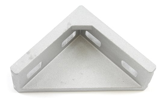 Cast aluminum right angle bracket for 30x60mm T slot