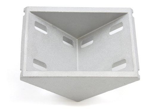Cast aluminum right angle bracket for 60x60mm T slot