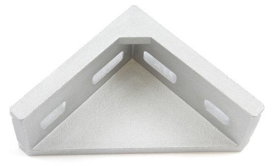Cast aluminum right angle bracket for 40x80mm T slot
