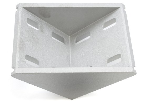 Cast aluminum right angle bracket for 80x80mm T slot